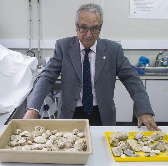 Victoriano Pujalte, UPV/EHUko Estratigrafia eta Paleontologia Saileko ikertzailea.