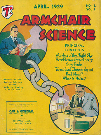 Armchair Science aldizkariaren lehen alea, 1929an