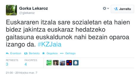 Kultura Zientifikoa 1. Jaialdia sarean: #KZJaiaren zenbakiak eta ezaugarriak.