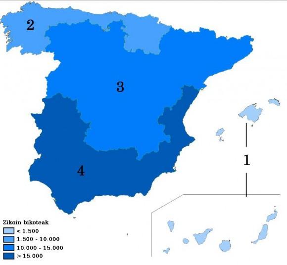 2. Irudia: Zikoina bikote populazioaren mapa.