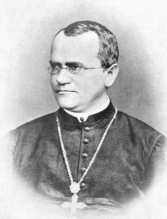 1. irudia: Gregor Mendel, genetikaren aita.