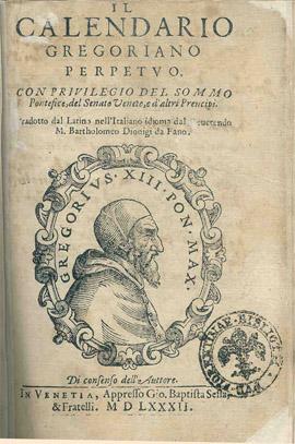 4. irudia: Egutegi gregoriarra izendatu zuen aginduaren liburuxka.