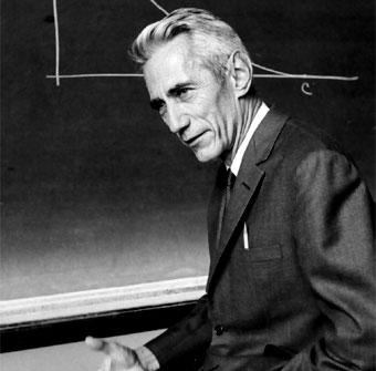 1. irudia: Calude Shannon matematikaria, informazioaren teoriaren aitatzat hartzen da.