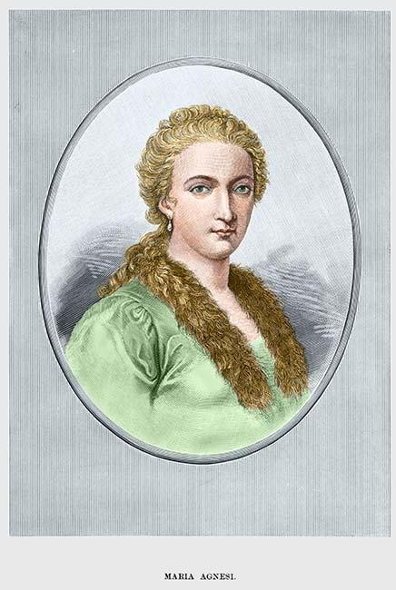 1. irudia: Maria Gaetana Agnesi (1718-1799) matematikaria.
