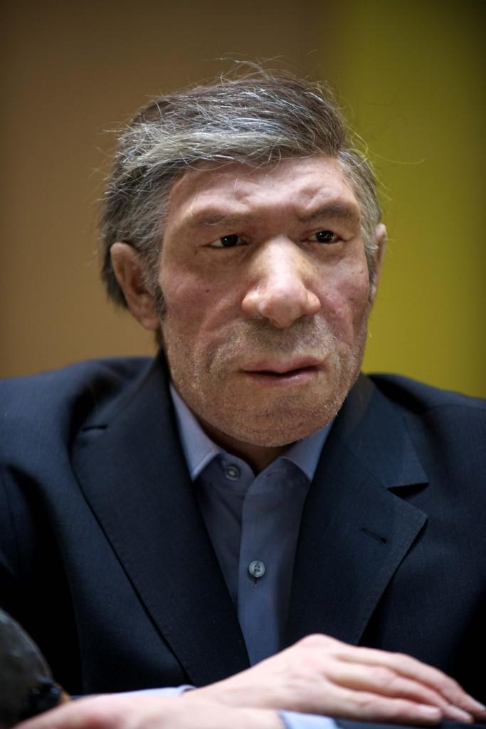 Gure antzera irudikatzen dugu Neandertalgo gizakia