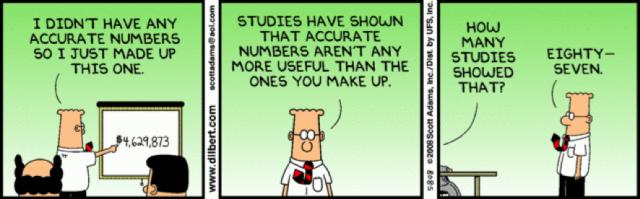 2. irudia: Irudia. Zenbakien ustezko objektibitatea. (Argazkia: Scott Adams, Inc., www.dilbert.com)