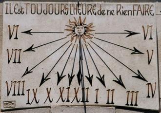2. irudia: St. Rémy de Provenceko Eguzki-erlojua.