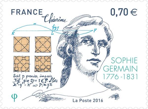 1. irudia: Sophie Germain 1776eko apirilaren 1ean jaio zen. Etxean ikasi zuen bere kabuz matematika.