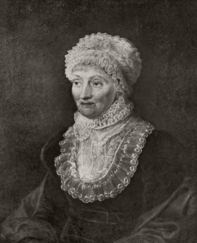 1. irudia: Caroline Herschel astronomoaren erretratua 1829. urtean.
