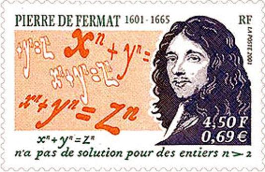2. irudia: Fermaten omenezko zigilu bat, teoremaren enuntziatua erakutsiz.