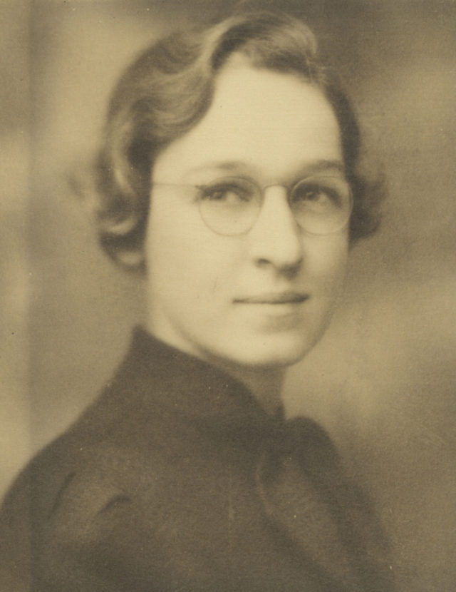 2. irudia: Virginia Apgar 1936. urtean. (Argazkia: Mujeres con Ciencia bloga).