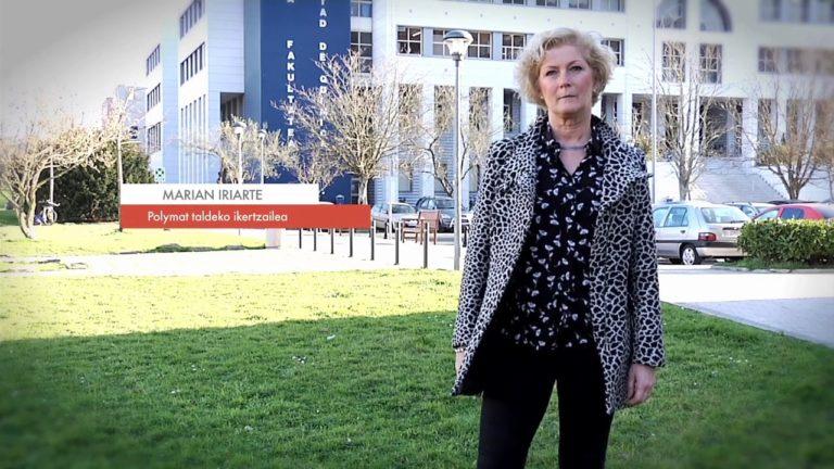 """Marian Iriarte: """"Biodegradagarriak diren polimeroak sortzeko lanean ari dira kimikariak"""" #Zientzialari (67)"""