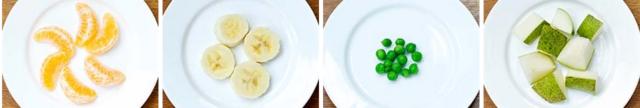 1-4 urte arteko umeek jan behra duten fruta eta barazki errazioak