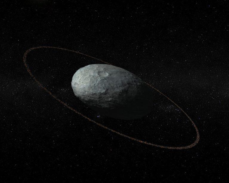 Haumea planeta ñimiñoak eraztuna du