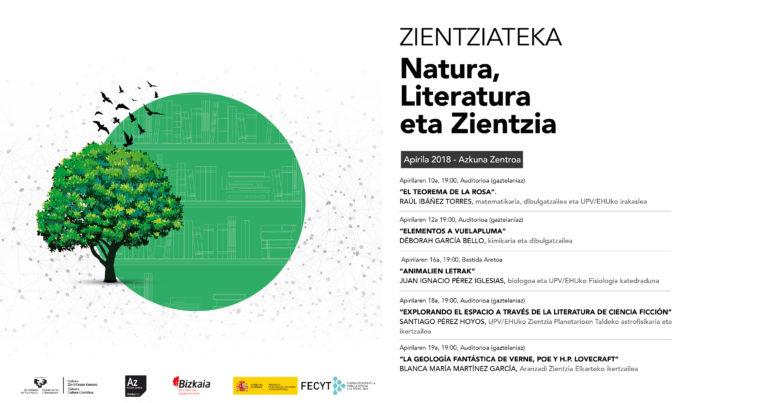 """Zientziatekako hitzaldi-zikloa: """"Natura, Literatura eta Zientzia"""""""