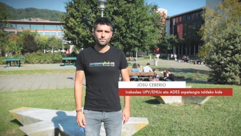 """Josu Ceberio: """"Espeleologiari esker lor genezakeen ezagutza oso zabala da"""" #Zientzialari (102)"""