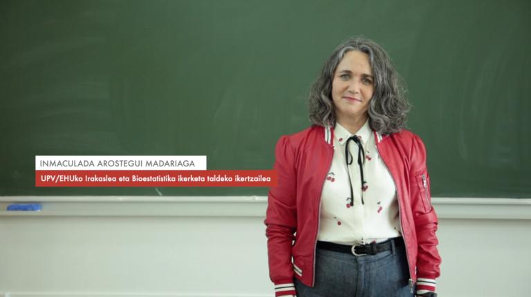 """Inmaculada Arostegui: """"Estatistika aplikatua beste esparrutan dauden arazoak konpontzeko erabiltzen dugu"""" #Zientzialari (116)"""