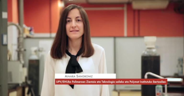 """Ainara Sangroniz: """"Estrategia desberdinak erabiltzen ditugu polimero biodegradagarrien malgutasuna hobetzeko"""" #Zientzialari (126)"""