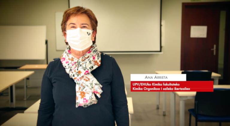 """Ana Arrieta: """"Konposatuen sintesiari esker minbizia tratatzeko medikamentuak sor daitezke"""" #Zientzialari (155)"""